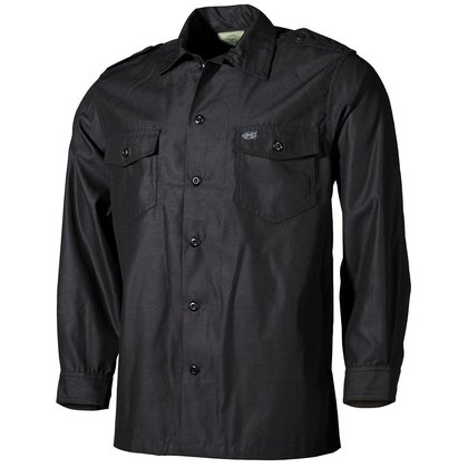 Gothic Basic robustes Shirt military schwarz